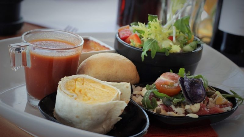 gezond middageten afvallen