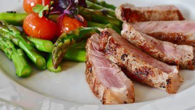 Vlees met veel eiwitten