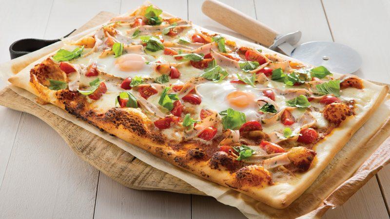 Een gezonde pizza